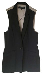 Rag & Bone Silk Sheer Notched Dual Pocket Vest