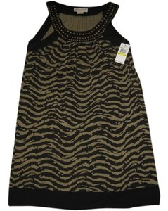 Michael Kors short dress Black khaki animal print on Tradesy