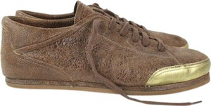 Dries van Noten Tennis Leather Brown Sneakers Laceup Athletic