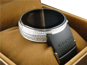 Gucci Full Case Digital Black I Gucci YA114207 Genuine Diamond Watch 3.5 Ct