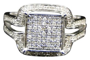 Other 10K White Gold Diamond Engagement Wedding Bridal Fashion Ring .40 Ct