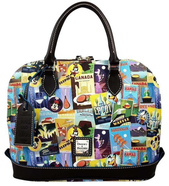 Item - Disney-dooney-and-bourke-2016-epcot-food-amp-wine-festival-zip-s Multi-color Leather Tote