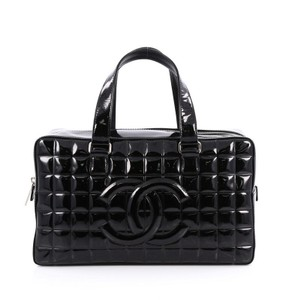 Chanel Chocolate Bar Patent Tote