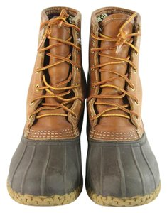 L.L.Bean Tan/brown Leather Laceup Classic Boots