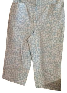 Charter Club Capris Blue with White Flowers