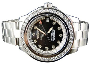 Breitling Ladies Custom Aeromarine Colt Ocean Diamond Watch 2.75 Ct