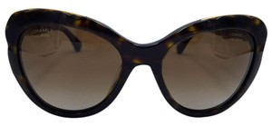 Chanel Cat Eye Tortoise and Gold Blooming Bijou Chanel Sunglasses 5354 57