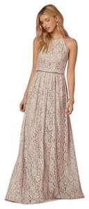 BHLDN Bridesmaid Neutral Lace Long Gown Dress