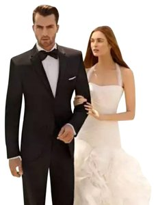 Vera Wang Ivory Organza and Satin 4xlvw351172 Destination Wedding Dress Size 10 (M)