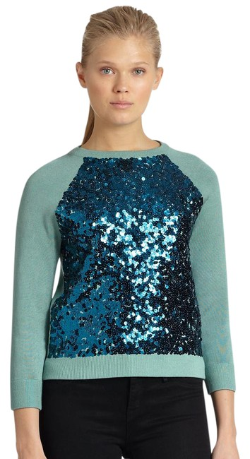 Preload https://item4.tradesy.com/images/marc-by-marc-jacobs-green-gretta-sequin-sweaterpullover-size-12-l-20826343-0-2.jpg?width=400&height=650