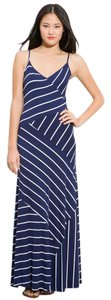 Maxi Dress by Calvin Klein Maxi Fulllength Strappy Striped Blue