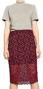 Zara Skirt red & black