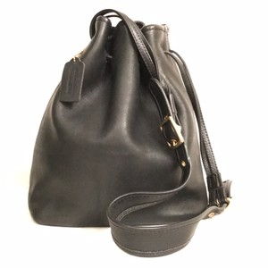 Coach Vintage Leather Drawstring Bucket Hobo Bag