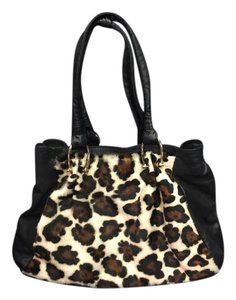 Marco Buggiano Leather Large Animal Print Tote
