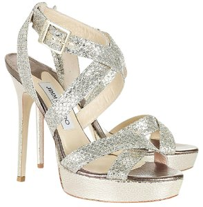 Jimmy Choo Silver/ Champagne Formal
