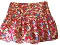 Tibi Silk Summer Mini Skirt Pink Floral