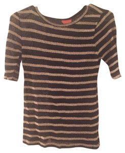 Joe Fresh Sheer T Shirt Blue and White Striped