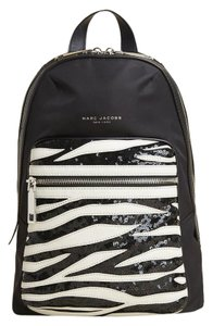 Marc Jacobs Biker Zebra Sequin Polyester Leather Backpack