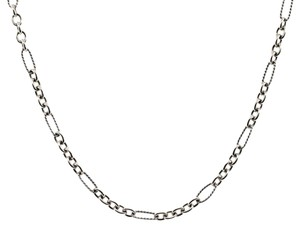 David Yurman David Yurman Figaro Sterling Silver and 18k Yellow Gold Link Chain