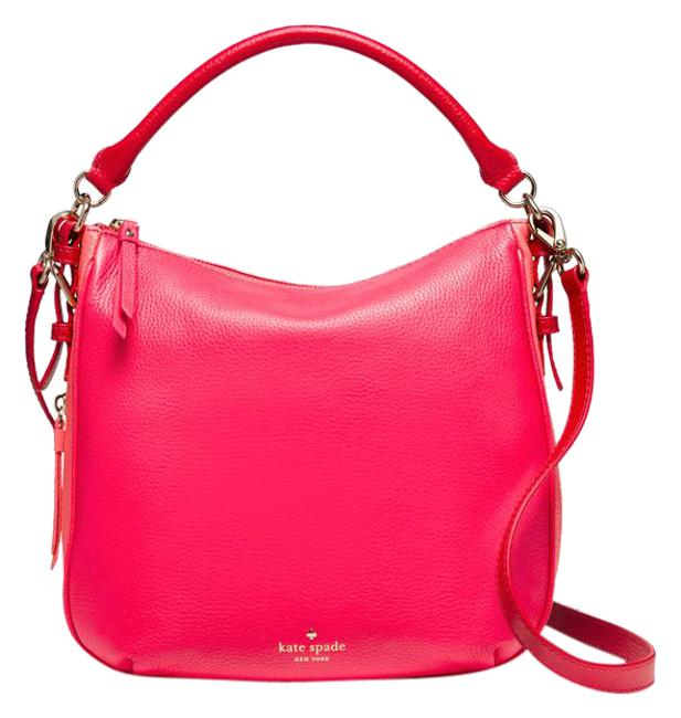Item - Cobble Hill Small Ella Coral Sunset and Peach Leather Shoulder Bag