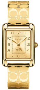 Coach Coach Signature Gold Tone Bangle Bracelet Page Womens Watch 14502160