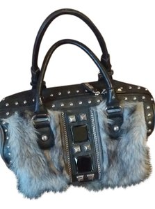 Nicole Lee Satchel in Gray,black with fur