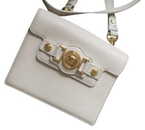 Versace Clutch Gold Leather Cross Body Bag