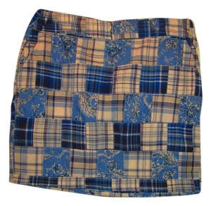 American Living Mini Skirt Blue/white plaid