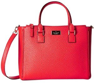 Kate Spade New York Prospect Place Marga Leather Satchel in Apple Jelly