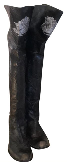 Mark Nason Black Kirra Bumptoe Cuffable Over The Knee Boots/Booties Size US 9.5 Regular (M, B) Mark Nason Black Kirra Bumptoe Cuffable Over The Knee Boots/Booties Size US 9.5 Regular (M, B) Image 1