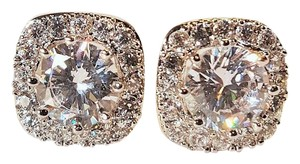 Other Brilliant CZ Silver Plated Stud Earrings