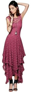 Chianti Maxi Dress by Free People Lace Maxi Sheer Flowy Stretchy