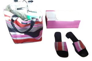 Kate Spade Shoe And Combo Alissa Tote in luggage stripes