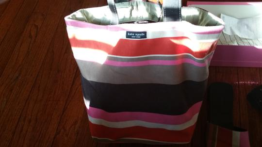 Kate Spade Shoe And Purse Combo Alissa Tote in luggage stripes Image 1