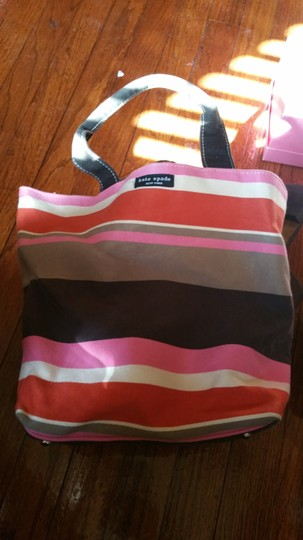 Kate Spade Shoe And Purse Combo Alissa Tote in luggage stripes Image 4