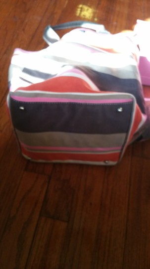 Kate Spade Shoe And Purse Combo Alissa Tote in luggage stripes