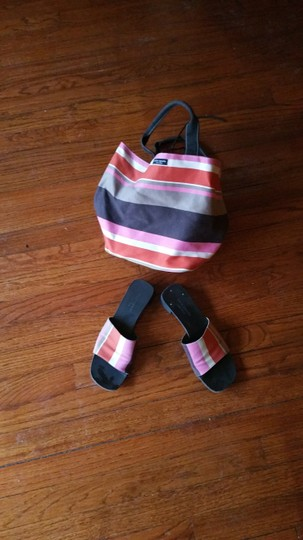 Kate Spade Shoe And Purse Combo Alissa Tote in luggage stripes Image 7
