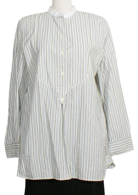 Lauren Ralph Lauren Blue Ivory Black XL Cotton Dobby Stripe Shirt Tunic Size 16 (XL, Plus 0x) Lauren Ralph Lauren Blue Ivory Black XL Cotton Dobby Stripe Shirt Tunic Size 16 (XL, Plus 0x) Image 1