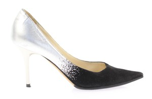 Jimmy Choo Silver and Black Pumps