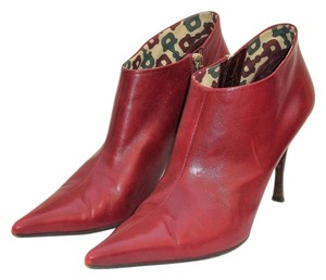 Gucci Designer Ankle Ankle Burgundy Boots