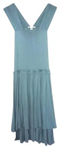 Light Blue Maxi Dress by Banana Republic Silk Modal Silky V-neck