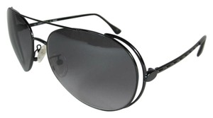 Fendi Glam Aviator - Black Metal & Logo, Sunglasses