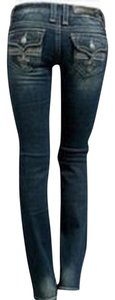 Rock Revival Low Rise Boot Distressed Straight Leg Jeans-Distressed