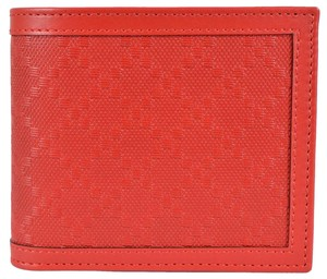 Gucci New Gucci Men's 365471 Tabasco RED Leather Diamante Bifold Wallet