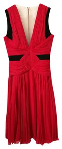 J. Mendel Pleated Silk V-neck Sleeveless Formal Dress