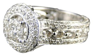 Other 14K White Gold Designer Diamond Bridal Engagement Ring 2.85 ct