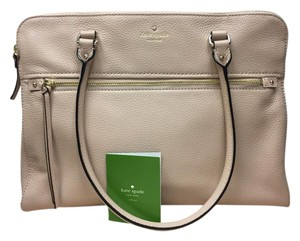Kate Spade Business Laptop Travel Leather Tote in Beige