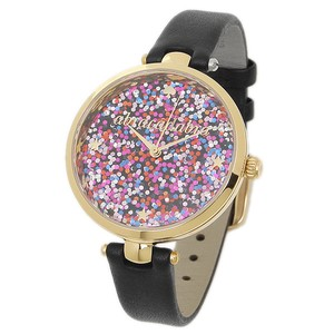 Kate Spade Kate Spade KSW1212 Holland Multi Color Dial Gold Black Leather Watch