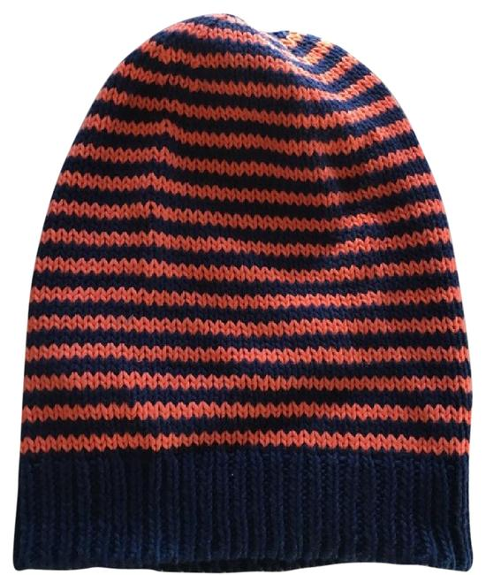 Item - Red/ Navy Slouch Beanie Hat