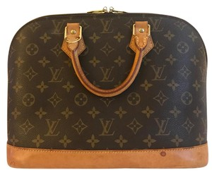 Louis Vuitton Alma Monogram Leather M53151 Satchel in Brown
